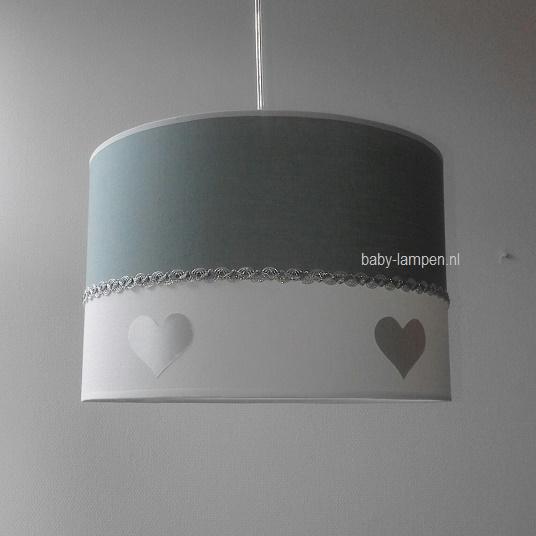 lamp babykamer oud groen zilveren hartjes