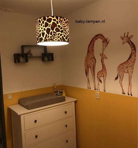 lamp giraffe print