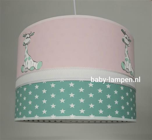 Hanglamp babykamer roze girafjes