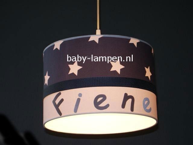 lamp babykamer Fienne antraciet sterren