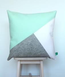 Cushion wool felt mint green