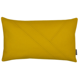 Cushion wool felt mustard yellow 50x30