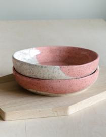 Pasta bowl spikkels blush pink 21cm