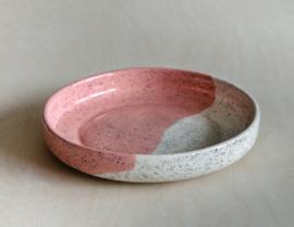 Diep bord spikkels kleur 19,5cm - op bestelling