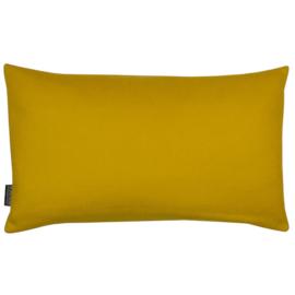 Cushion wool felt mustard yellow 50x30