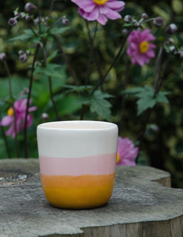 Mok summer geel-roze