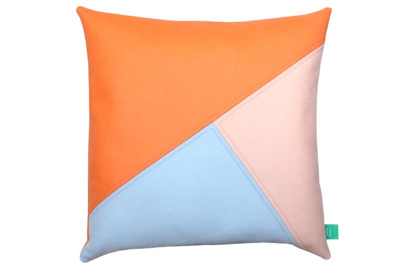 Cushion wool felt peach