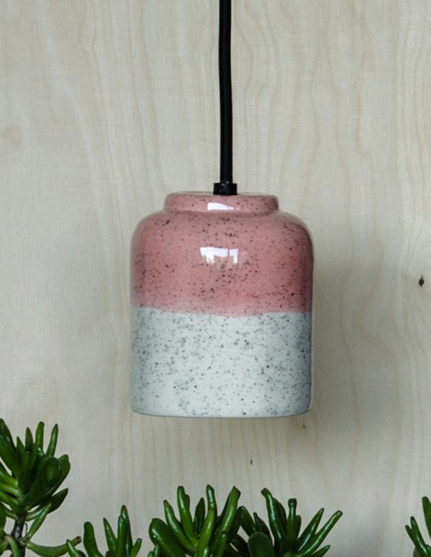 Hanglamp spikkels blush