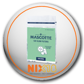 Mascotte slim filters (6mm) 120 stuks