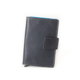 Figuretta Cardprotector Stitched Leather – Black