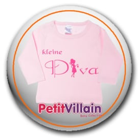 T-shirt Kleine Diva, Roze
