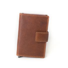 Figuretta Cardprotector Stitched Leather – Cognac