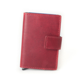 Figuretta Cardprotector Stitched Leather – Red