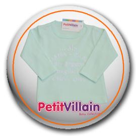 T-shirt .....Als papa + mam nee zeggen..., Mint groen