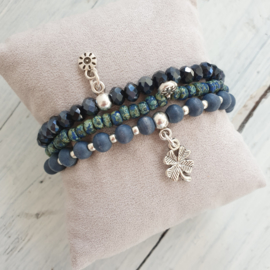 Armbandjes blauw zilver