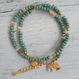 Armband Suze turquoise-groen