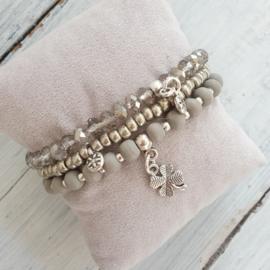 Armbandjes grijs zilver