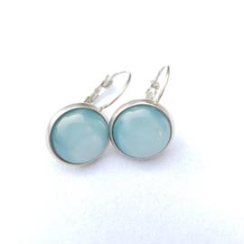 Oorbellen stainless steel scuba blue