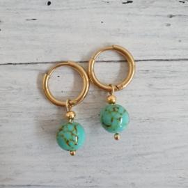oorbellen turquoisegroen