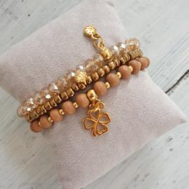 Armbandjes brons goud