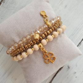 Armbandjes naturel brons goud