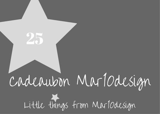 Cadeaubon van Mar10design 25