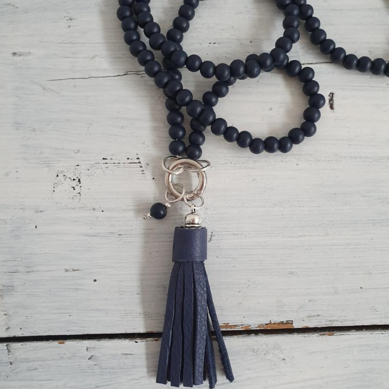 Lange ketting nachtblauw