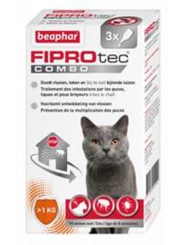 BEAPHAR - FIPROTEC COMBO KAT 3 PIPETTEN