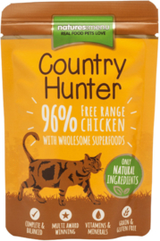 Natures Menu Cat Country Hunter Pouch Chicken - 6x 85 gr