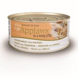 Applaws Blik Cat Jelly Chicken Mackerel 70 gr. (24 verp.)