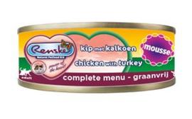 Renske Kat Blik Mousse Kip met Kalkoen 24 x 70 gr