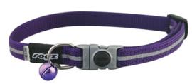 Rogz AlleyCat Halsband Small Purple 11mm - 16,5-23cm