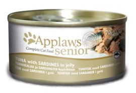 Applaws blik cat Senior Tuna Sardines - 70 gr. (24 verp.)