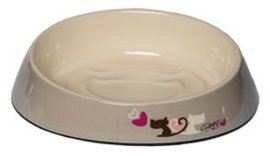 Rogz Bowlz Fishcake Grey Heart Tails