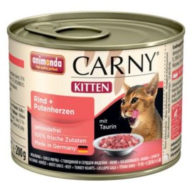 Animonda Carny Kitten Kattenvoer   Rund & Kalkoen  6 x 200 gr