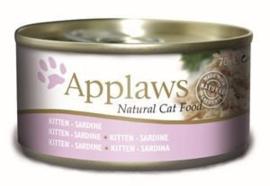 Applaws Blik Cat Kitten Sardine - 70 gr. (24 verp.)