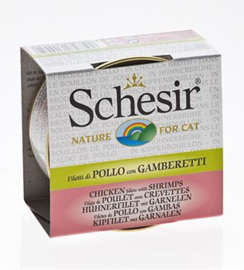 Schesir Cat Broth Chicken & Prawns - 14x70 gr.