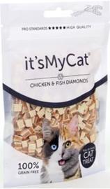 it's My Cat Chicken & Fish Diamonds 50 gr