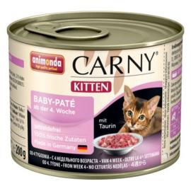 Animonda Carny Kitten Kattenvoer   Baby-paté 6 x 200 gr