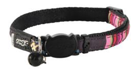 Rogz Neocat Black Candystripes - 11mm - 20-31 cm