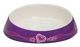 Rogz Bowlz Fishcake Purple Hearts