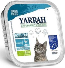 Yarrah Kat Alu Brokjes Kip/Makreel - 100 gr. (16 verp.)