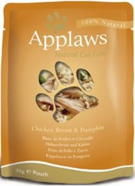Applaws Cat Pouch Chicken & Pumpkin - 70 gr. (12 verp.)