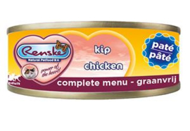 Renske Kat Blik Kip Paté - 70 gr. (24 verp.)