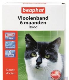 Vlooienband Kat Rood Verpakking:1 st