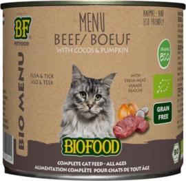 Biofood organic kat rund menu blik kattenvoer 200 gr