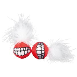 Catnip Grinz Ball Red (2 stuks)