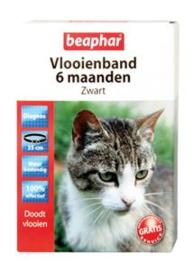 Vlooienband Kat Zwart Verpakking:1 st