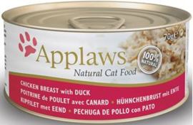 Applaws blik cat Chicken & Duck - 70 gr. (24 verp.)