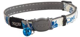 Rogz GlowCat Blue Floral - 11mm - 20-31 mm